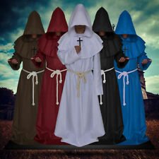 Adult Men's Halloween Costumes Priest Costume Medieval Monk Christian Missionary