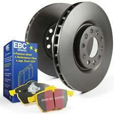 EBC Rear Brake Discs and Yellowstuff Pads Kit For Ford Fiesta Mk7 1.6 ST180