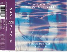 TEN SHARP - When the snow falls CDM 4TR Europop Ballad 1991 (Columbia) Holland