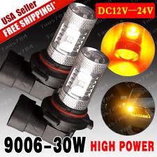 2x 3000K Amber Yellow High Power 30W 9006 HB4 Fog/Driving Light 12V-24V US