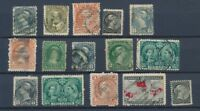 CANADA : Lot of 15 very old Stamps . Good used stamps High CV$400 A2064