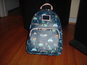 LOUNGEFLY DISNEY ATTRACTIONS 65TH ANNIVERSARY MINI BACKPACK~ WITH TAGS~BRAND NEW