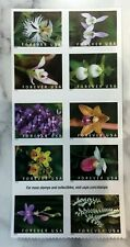 2020USA Forever Wild Orchids - Block of 10 From Booklet  Mint  flowers