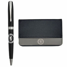 Chelsea FC Gift Boxed Executive Business Card Holder & Pen Set - Football Gift