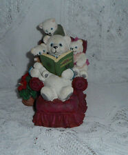 PAPA'S COZY CHAIR  TOM NEWSOM FROM THE NORTH POLE BEARS 1996 SCULPTURE COLLECT.