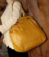 $2298~🌼HUGE~PRADA YELLOW TEXTURED LEATHER Framed DOME~BAG Brass Buckle purse 💋