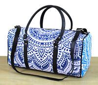 New Indian Duffle Sports Gym Bag Unisex Travel Bags Cotton Ombre Mandala Handbag