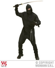 M Mens NINJA Costume for Oriental Fighter Soldier Fancy Dress Outfit Medium 40-4