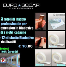 HAIR EXTENSION EURO SOCAP 3 NASTRI ADESIVI PER BIO-ADESIVO (STICKER HAIR)