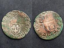 Qiunzain 1592 Contremarqué aux lys. Louis XIII°. Billon
