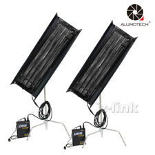 As Kinoflo 2 Kit 300W 4FT 4Bank Fluorescent Light+Ballast With Egg Crate Studio