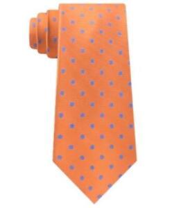 MSRP $69 Tommy Hilfiger Men's Bright Preppy Dot Tie Orange One Size