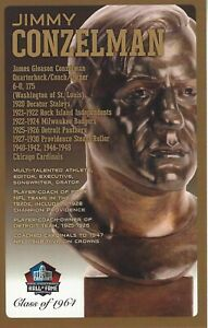 Jimmy Conzelman Chicago Cardinals Football Hall of Fame Bust Card