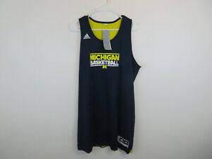 Michigan Wolverines Adidas Women's Team Issued Basketball Jersey Reversible NEW