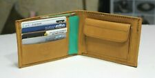 Men's Leather Credit Card Holder ID Coin Pockets Orange Color Wallet Purse