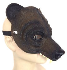 Deluxe Latex Brown Bear Mask Beast Cosplay Halloween Costume Furry Role Play