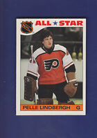Pelle Lindbergh All Star 1985-86 TOPPS Hockey Sticker Insert Set #6 (EXMT)