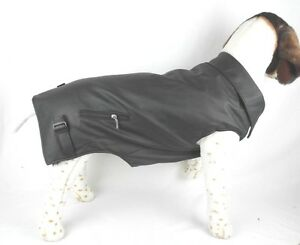 (LARGE DOGS) Lg-Small, Lg-Medium, Lg-Large BLACK LEATHER BIKER  PET DOG VEST
