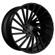 "4-pcs 22"" Staggered Lexani Wheels Wraith Gloss Black Rims"