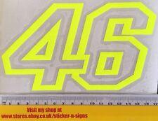 1x amarillo flúor número 46 Pegatina Calcomanía 170mm Adecuado Para Yamaha Bicicleta