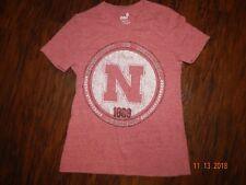 Euc Girls Gen 2 Nebraska Cornhuskers Football T Shirt Top Size Small 7/8