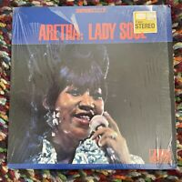 COVER ONLY in Shrink ARETHA FRANKLIN Atlantic LP LADY SOUL Original Record Poor