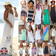 Cotton Blend V Neck Summer/Beach Dresses