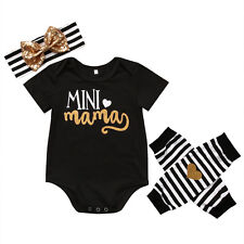 Newborn Infant Baby Girl Cotton Body Romper Jumpsuit Cotton Outfit Clothes Set