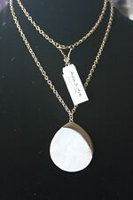Anna & Ava Necklace With White/Gold Colored Pendant