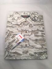 REDINGTON TROUT PRINT CASUAL SHIRT SIZE LARGE WHITE- MSRP $40 CLOSEOUT