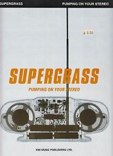 Pumping On Your Stereo - Supergrass - 1999 Sheet Music