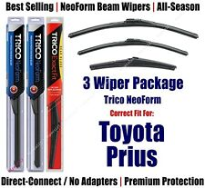 3-Pack Wipers Front & Rear NeoForm fit 2012+ Toyota Prius V - 16260/190/11A