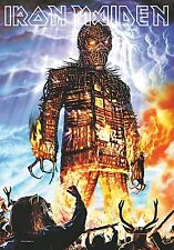 Iron Maiden Wicker Man large fabric poster / flag 1100mm x 750mm (hr)