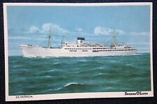 1963 Ss Patricia @ Sea - Vintage Color Postcard - Swedish Lloyd