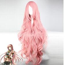 Vocaloid Megurine Luka,rose long Ondulé animation Cosplay fête cheveux perruques