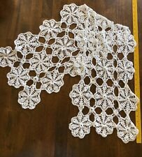 Hand made Crocheted 48 Inch Table Runner Plus 3 Large Handmade Crochet Doilies