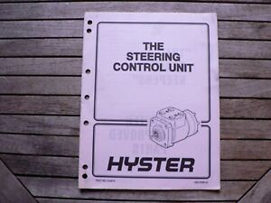 Hyster Forklifts Materials The Steering Control Unit Service Repair Manual