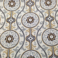 MAGNOLIA HOME OH SUZANI METAL GRAY MEDALLION UPHOLSTERY FABRIC $8.10/YD BTY 83B2