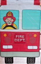 New listing Fire Truck Standard Applique House Flag by Nce #20244