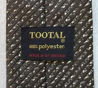 Vintage TOOTAL Tie Mens Necktie Retro Fashion TEXTURED BROWN STRIPED