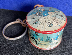Quirky Vintage 60s FRENCH BROCHET cartoon TIN TIN storyboard Key Ring Chain #A62