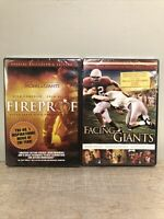 2 Pack DVD Fireproof & Facing The Giants Kirk Cameron New Sealed