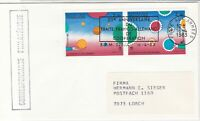 France 1983 20th Ann Co-op France + Germany Slogan Cancel Stamps Cover Ref 31693