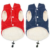 Pet Dog Fleece Jacket Winter Clothes Warm Padded Coat Vest Outdoor Clothing