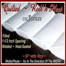 QUILTED RnP UVR VINYL Per-YARD/L+ Filled for SEAT/Boat/Auto Roll-n-Pleat 54W