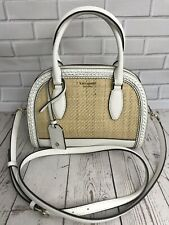 Kate Spade Dome Satchel Bag - Reiley Straw - Brightwhite - RRP £295