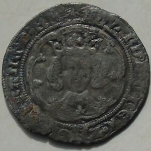 1327-77 Edward III Pre Treaty Period Groat Hammered Silver Medieval Coin 27mm