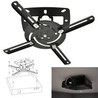 Universal LCD DLP Tilt Adjustable Projector Ceiling Wall Mount Bracket Black