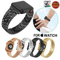 Luxury Bling Crystal Diamond Aluminum Wrist Band For Apple Watch iWatch 6 5 4 SE