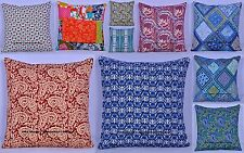 "200 Wholesale Lot Cotton Cushion Cover Set Pillow Handmade Sofa Throw 16"" Boho"